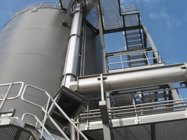 sliding frame silo